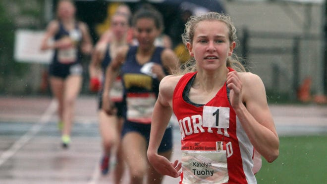 Katelyn Touhy of North Rockland won the Women's Loucks Mile during day 3 of the 50th annual Loucks Games at White Plains High School May 13, 2017.