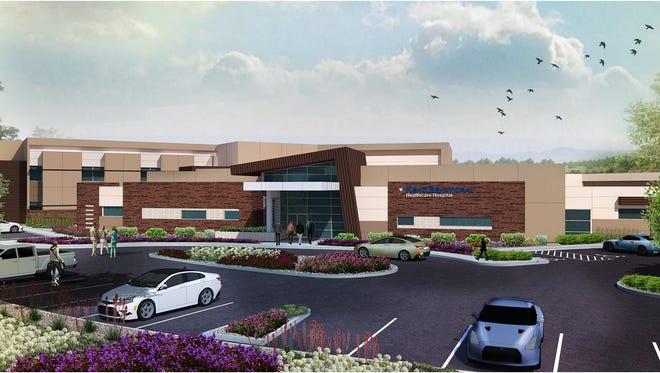 Renderings of Reno Behaviorial Healthcare Hospital.