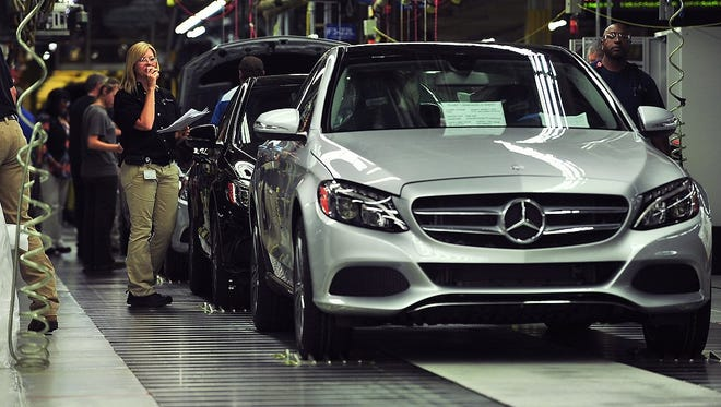 Mercedes-Benz is building more vehicles in Alabama, such as this C-Class in the Vance plant