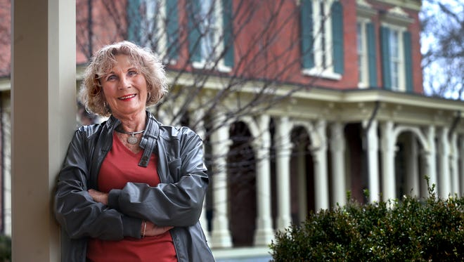 Shirley Farris Jones, local author and historian, stands Thursday, March 3, 2016, in front of the Oakland Mansion, where she will speak Friday.