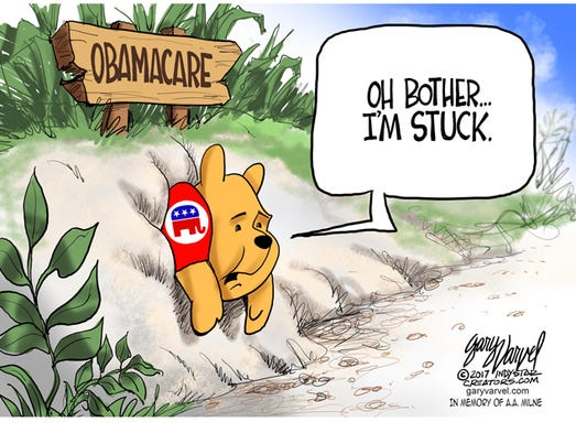 Senate Republicans, like Winnie the Pooh, are stuck