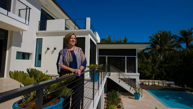 Joyce Owens is the principal architect at Studio AJO. She oversees all the design work for her clients here in the US as well as in the United Kingdom and Italy. She designed this home in Sanibel.