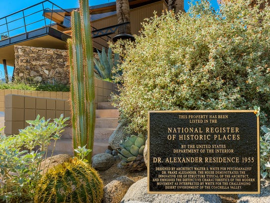 The Alexander House, located at 1011 W. Cielo Dr. in Palm Springs, was placed on the National Register of Historic Places in 2016.