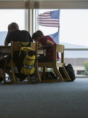 Students study at Canyon View High School in Cedar City.