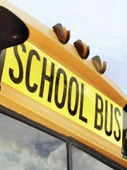 A file photo showing a school bus sign. The Washoe County School District confirmed there was a school bus involved in a crash early Friday morning in south Reno.