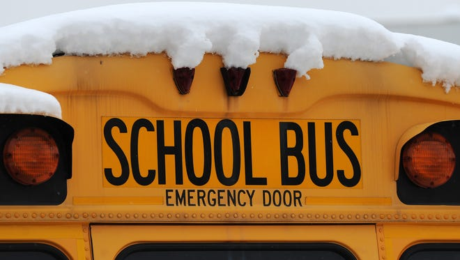 The 3-year-old's mother says he spent several hours on the bus in frigid temperatures.