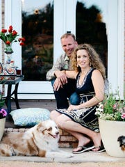 Kelly Chakos and Twila Abrams, along with their dog, Oliver, operate Pottery Avenue Cottage at 213 E. 100 South, St. George.