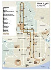 Cincinnati's streetcar route