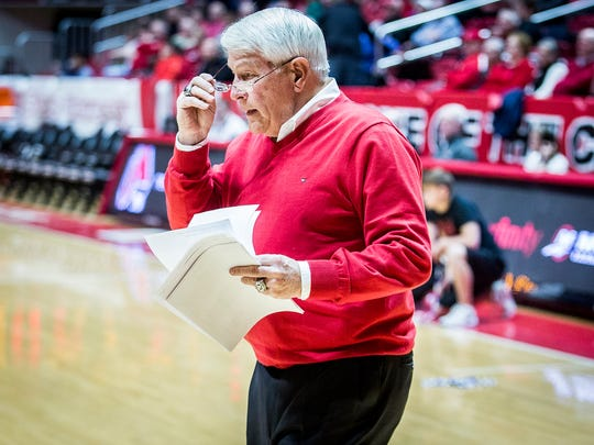 Ball State's Ed Shipley was a longtime alumni director and kept stats at basketball and football games.