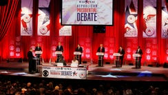 GOP candidate take part in the Republican debate at