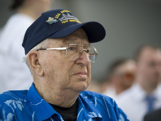 Pearl Harbor survivor Lauren Bruner attends the dual