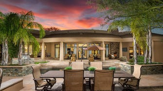 The asking price for Arizona Diamondbacks CEO Derrick Hall's 6,438-square-foot  Paradise Valley home is $2.89 million. Hall recently spent $500,000 renovating the house that comes with four bedrooms and five-and-a-half bathrooms.