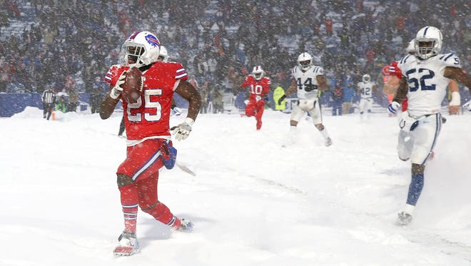 LeSean McCoy scores the winning touchdown during the Buffalo Bills win over the Indianapolis Colts in December. McCoy has hired a prominent defense attorney after a home invasion occurred at a residence he owns near Atlanta.