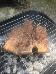 Too much time on the grill left my King of Steaks porterhouse