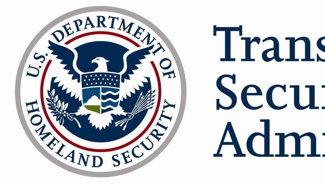 A TSA and Department of Homeland Security logo.