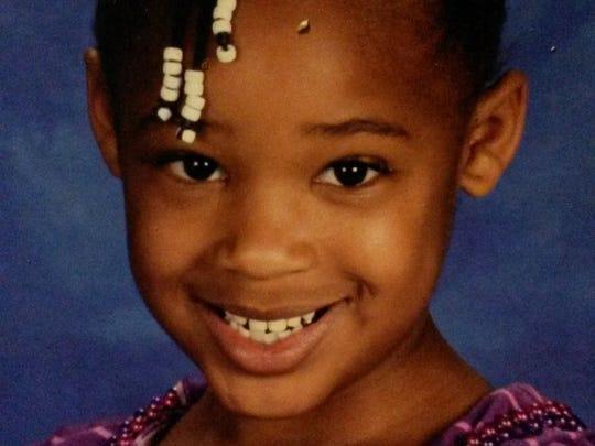 Janaya Thompson, 5, of Gulfport, Miss.