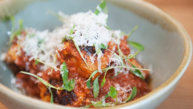 Chicken meatballs at Tredici in Philadelphia benefit from a hint of citrus.