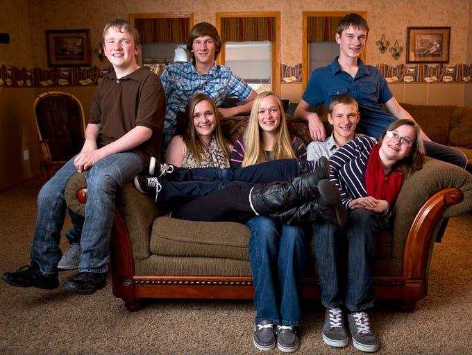 McCaughey septuplets of Carlisle, Iowa, photographed