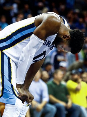 Memphis Grizzlies guard Tyreke Evans during a 116-113 loss to the Indiana Pacers at the FedExForum in Memphis, Tenn., Wednesday, November 15, 2017.