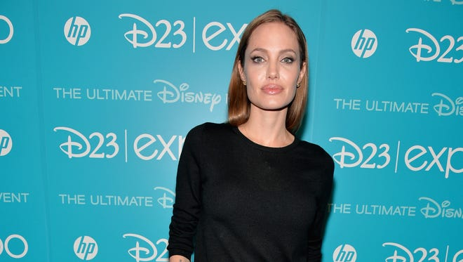 Angelina Jolie attends the live action presentation at Disney's D23 Expo on Aug. 10.