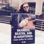 PETA protests, wants GM to use faux leather in cars
