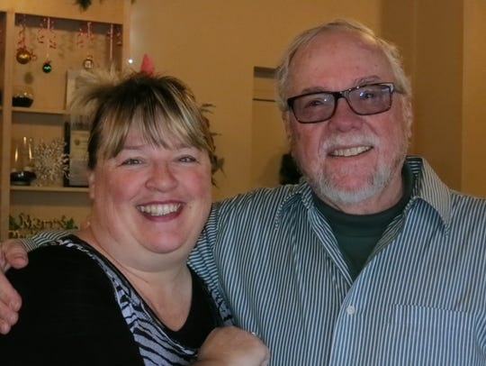 Valerie Ing and Daryl Harris, both of Redding, attend