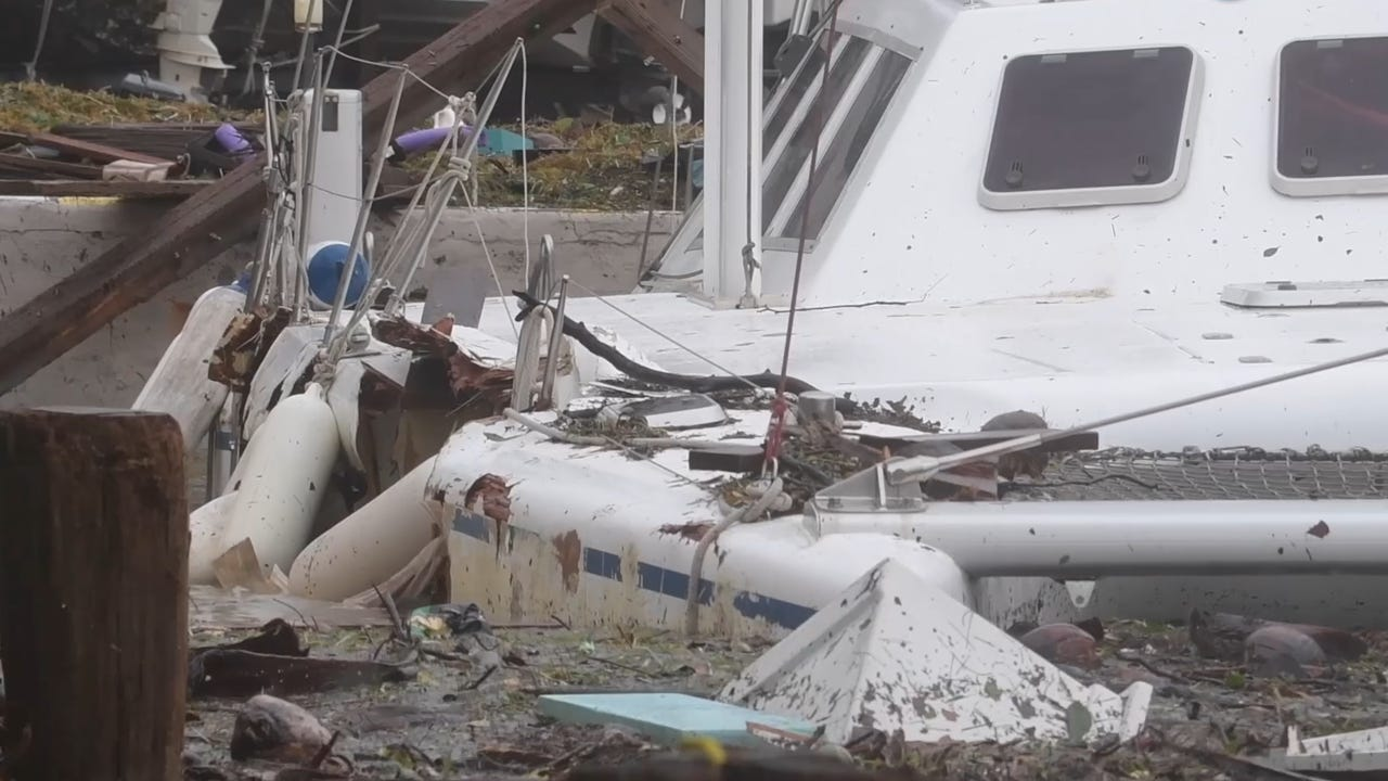 Hurricane Irma leaves giant holes in Miami boats