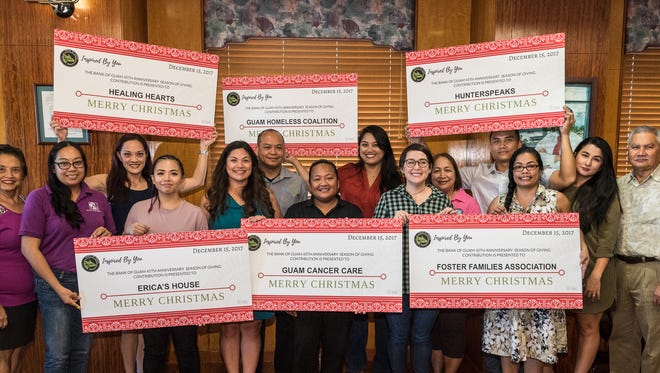 The Bank of Guam recently donated to 27 nonprofits in celebration of partnerships in the region.