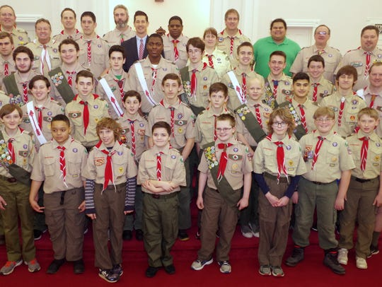 Boy Scout Troop 121 from Clinton.