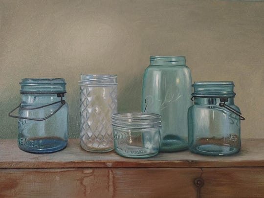 Five Bottles by Amy Colburn.
