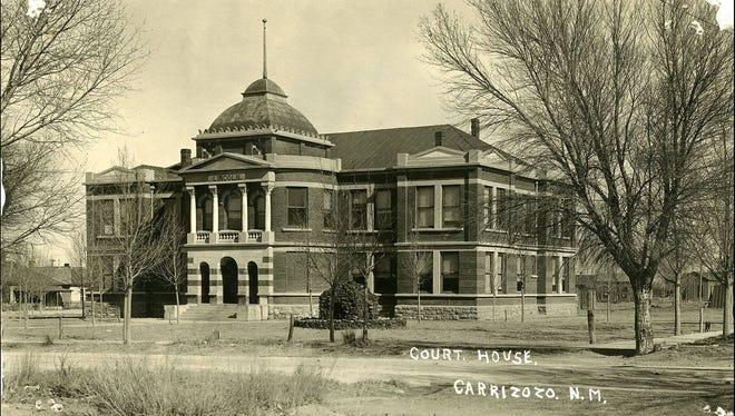 In 1909, voters elected to move the county seat from Lincoln To Carrizozo. Lincoln residents protested. The U.S. Supreme Court finally settled the matter in 1913. In the 1960s this building was torn down.