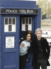 "Peter Capaldi and Pearl Mackie pose with a replica of the TARDIS to promote the new ""Doctor Who."" After three seasons of zooming through space and time, Capaldi is preparing to hang up his sonic screwdriver and depart ""Doctor Who."" Catch the Season 10 Premiere at7 p.m. Monday and Wedensday at Regal Santiam Stadium 11 in Salem."