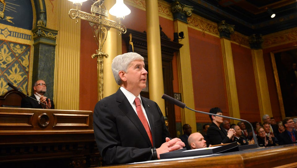 Gov. Rick Snyder delivers his State of the State address