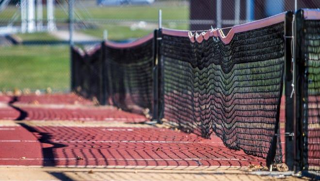 Cedar High tennis courts, Friday, Nov. 13, 2015.