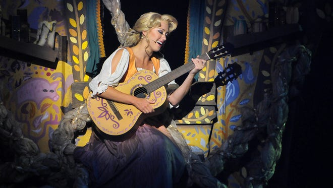 "Disney Cruise Line's presents Tangled the Musical that is based on the original motion picture ""Tangled""  the Walt Disney theatre aboard the Disney Magic at Port Canaveral."