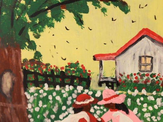 A new painting by Shreveport folk artist Bertha Harris.