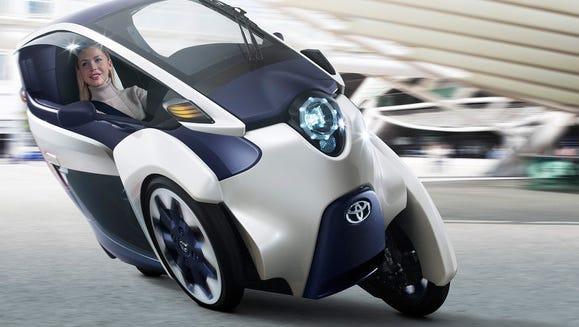 Toyota's iRoad concept car.