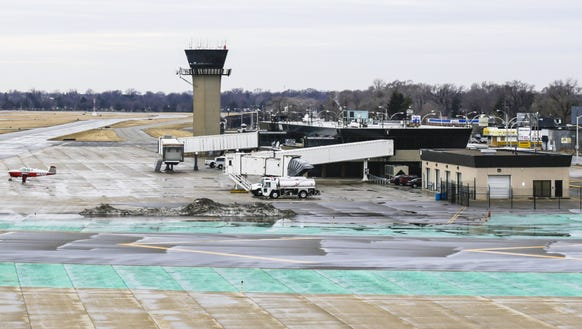 The Coleman A Young Municipal airport in April 2014