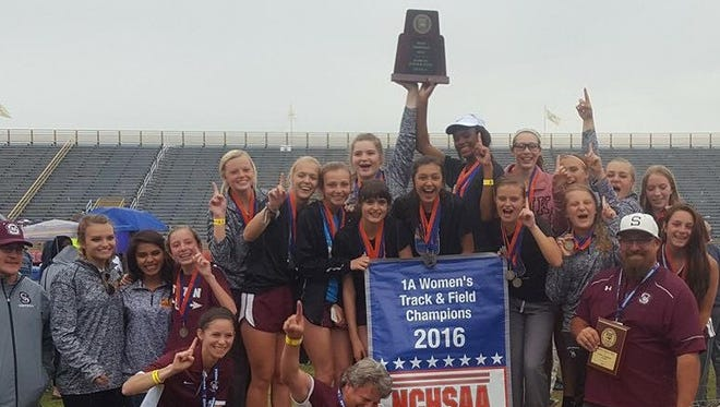 The Swain County girls track team won the NCHSAA 1-A championship on Friday in Greensboro.