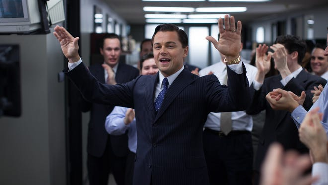 """This photo released by Paramount Pictures shows, Leonardo DiCaprio as Jordan Belfort in 'The Wolf of Wall Street."""""""