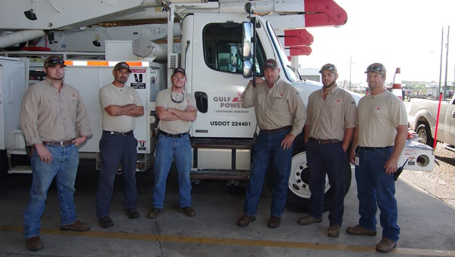 Gulf Power crews preparing to head out Friday morning to assist crews in Georgia.