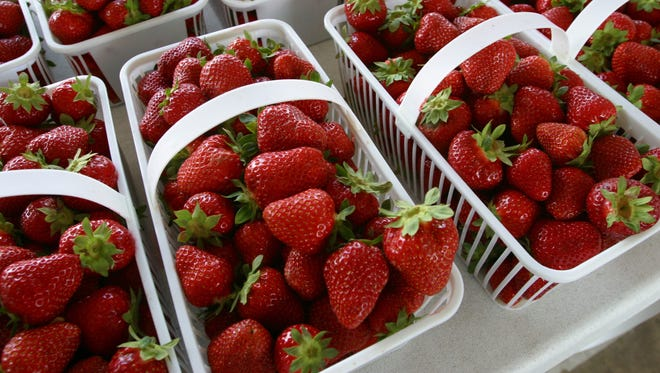 Strawberries topped the Environmental Working Group's Dirty Dozen list of fruits and vegetables with the most pesticides.