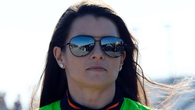 Danica Patrick had to go to a backup car early at Bristol after tagging the wall in the first practice.