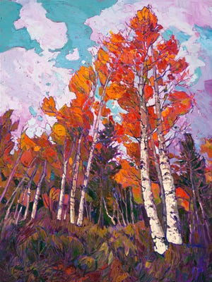 Erin Hanson's impressionist-style work will be featured in the mezzanine gallery of the St. George Art Museum as part of the museum's focus on national parks throughout 2016.