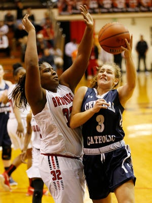 Junior guard Kaylyn Cherry is one of several experienced upperclassmen for suddenly surging Central Catholic.