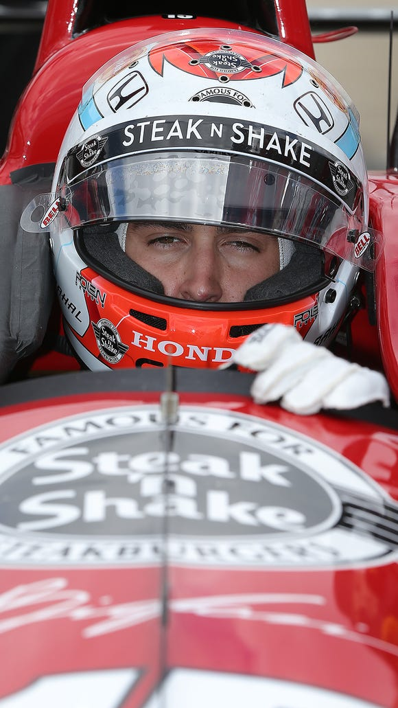 Graham Rahal won Saturday's IndyCar Series race at Auto Club Speedway