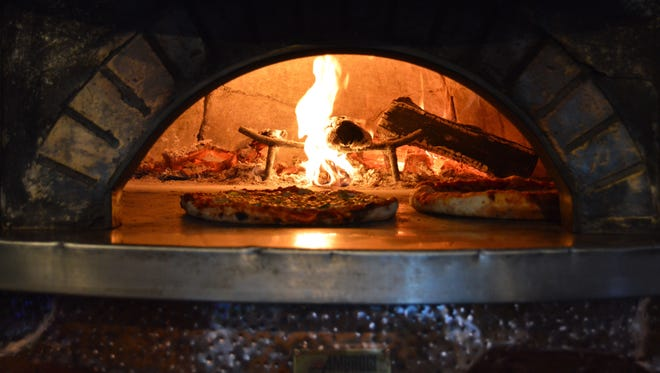 The Ambrogi wood-fire oven at Mr. P's Pizzeria was hand-made in Milan, Italy.
