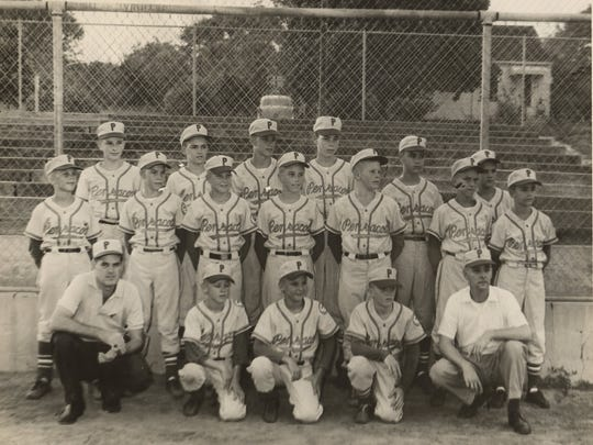 The Bill Bond 1960 state championship team. Coach Bill Bond is far left, front row.