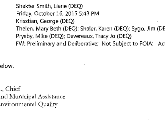 Many state government e-mails released over the Flint