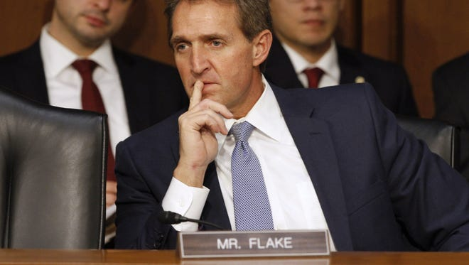 Sen. Jeff Flake, R-Ariz., announced on Oct. 24, 2017, that he would not seek re-election in 2018.